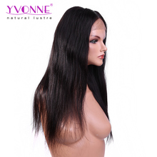 Yvonne Alibaba Trade Assurance brazilian hair glueless front high ponytail lace wigs