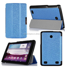 7 inch Tablet PC Silk Pattern Leather Flip Cover For LG G Pad 7 V400 Case