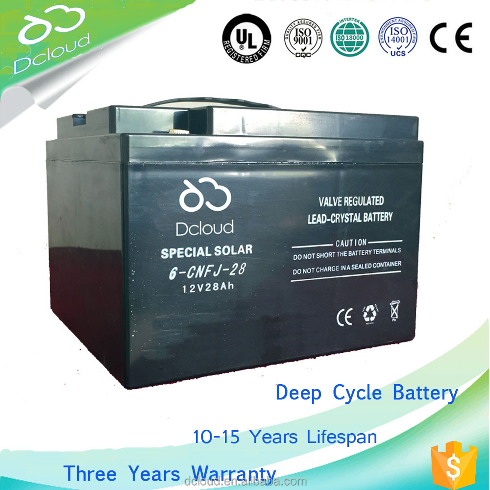 12V 28AH connected protective devices High-rate discharge lead battery