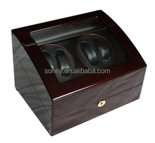 4+6 High Quality Carbon Fiber Leather Interior Watch Winder