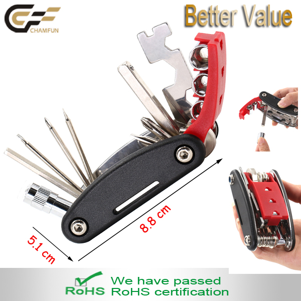 Folding Bicycle Tool with led High Quality Alloy Steel Cycling Bicycle Repair Tools