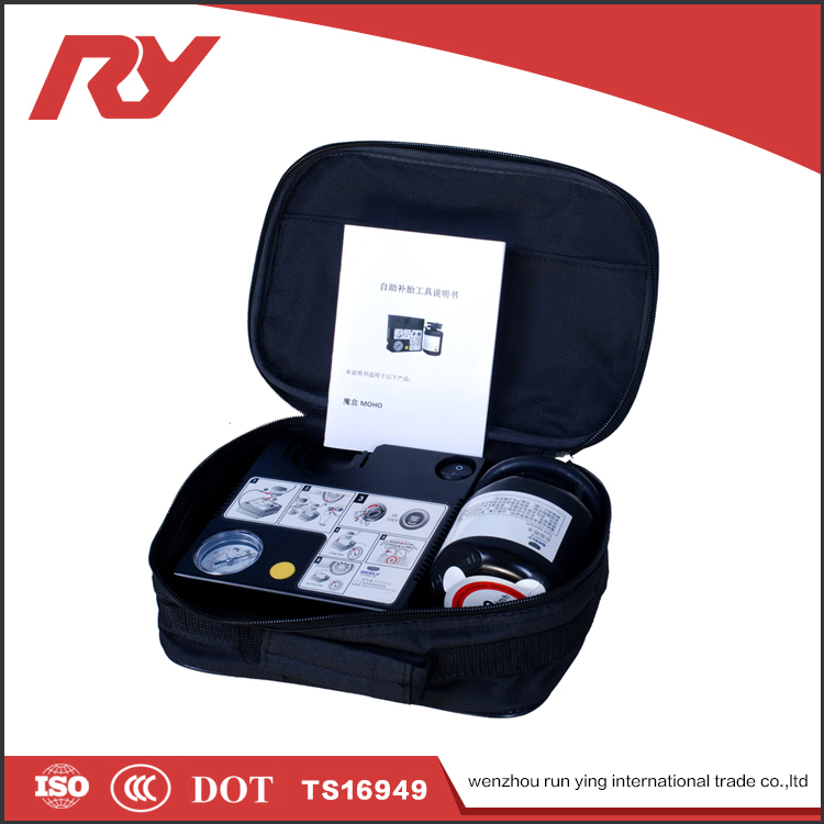 RUNYING Cheap Auto Tire Puncture Adhesive Car Repair Tools And Tyre Air Pump Set