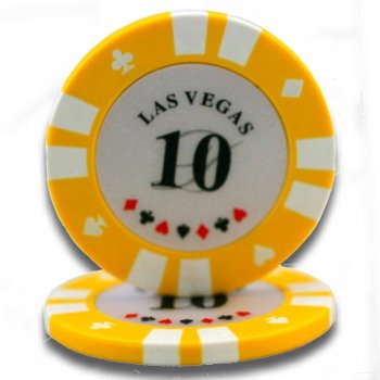 2 Colors Las Vegas Poker Chips (casino chip)