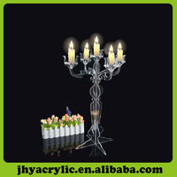 Clear tall 20 inch acrylic lucite candelabras