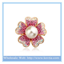 Fashion italina red apple pearl brooch(can use as pendant)