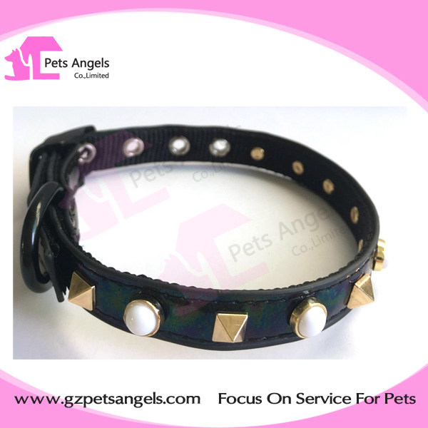 Genuine leather Luxury Rhinstone Crystal Leather Dog Cat Puppy Pets Collar