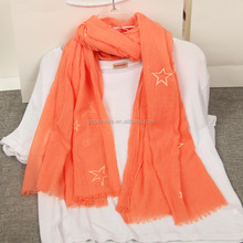 New Design Cotton and Linen Solid Color Winter scarf Discount