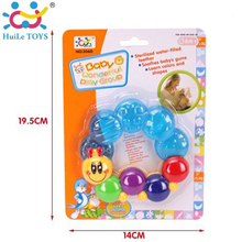 High quality huile toys cute plastic wholesale baby toys teether with EN71