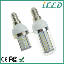 CE ROHS Cool white 6000k 6400k G9 E27 base 3W 100V 120V 220V SMD led light bulb e14