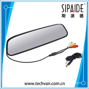 "SPD50 4.3"" TFT LCD HD 480H x 272V Car Rearview Reverse Car Monitor For Parking with 2-channel Video Input"
