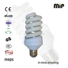 high quality Full spiral T4 25W E27 6500K Energy saving light