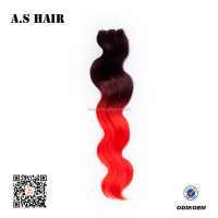 Factory Direct Cheap Price Ombre Hair Extension Tangle Free Synthetic Hair Extension Synthetic Fiber Hair Extension