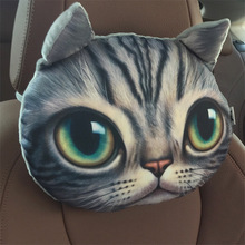 3d cat bolster car seat head neck rest cushion headrest pillow for car