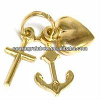 fake gold charms cheap
