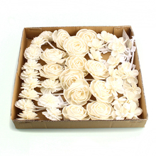 Rose artificial sola wood dry flower for room air freshener