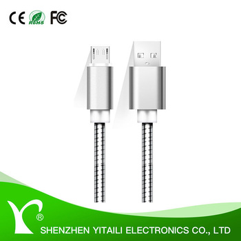metal shell data sync Micro Usb Charging Cable For Android