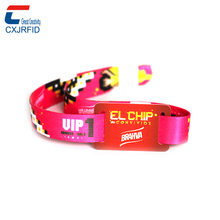 2017 New free samples festival woven rfid wristband