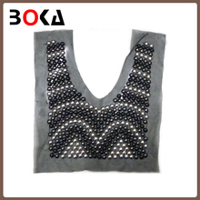 Fashion handmade beaded collar neck design of dress BK-CL350