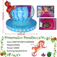Indoor/outdoor round carousel machine coin operated amusement carousel 6 players carousel