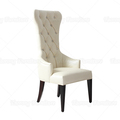 Wholesale price high back fancy white wedding chairs with decorative nails