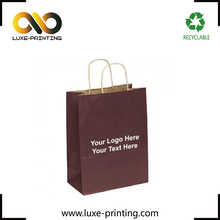 Custom made cheap smart foldable brown kraft shopping paper bag