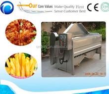 Stainless steel potato/fish/chicken/meat/snack frying machine on sale