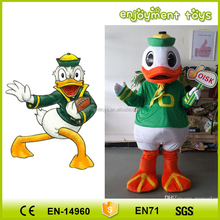 Enjoyment CE commercial custom made oregon duck mascot costume for adult EM-89