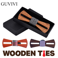 2016 Original Fashion handmade wooden bow tie Both male and female elegant wood ties