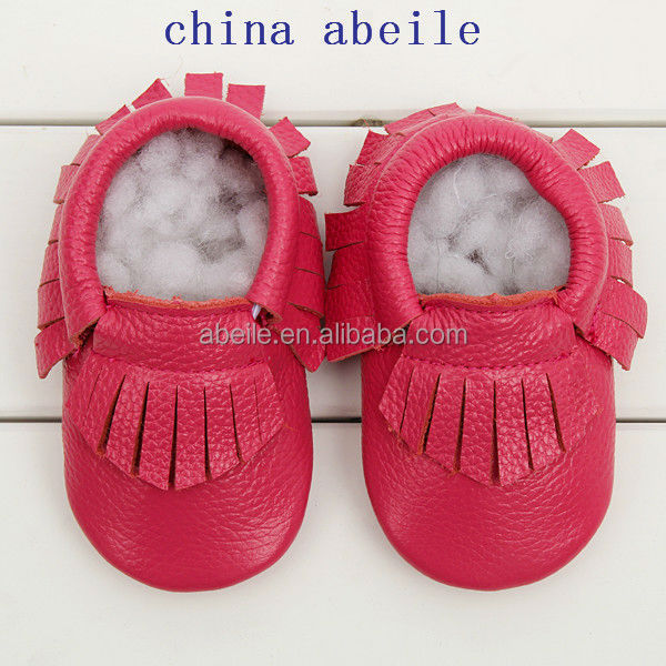 girls new design soft golden baby & kids summer shoes wholesale leather toddler moccasins 2015
