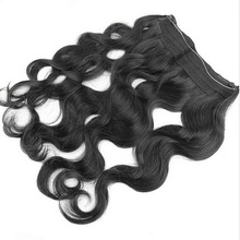 Fish Wire Real Human Curly Fusion Virgin Hair Extension