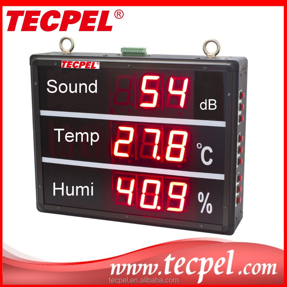 TRH-300 Sound level meter/ PT-100 Temperature/ Humidity LED Monitor