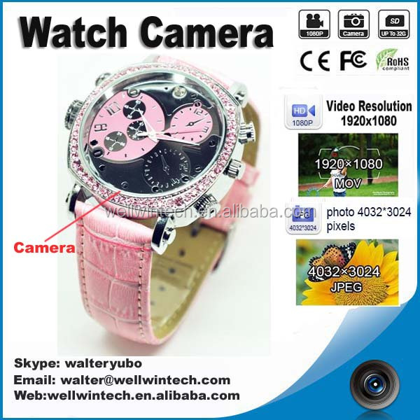New fashion Woman watch camera with HD 1920*1080P women watch DV watch camcorder