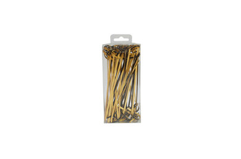 Decorative bamboo knot skewers 9cm with pvc box package