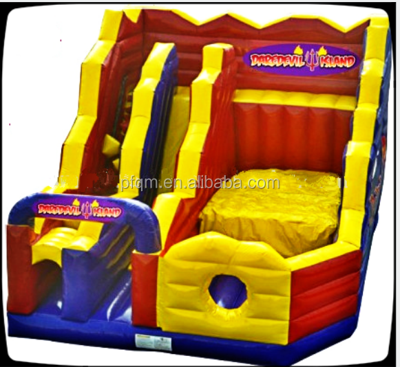 new design outdoor inflatable cliff jump/inflatable sports game