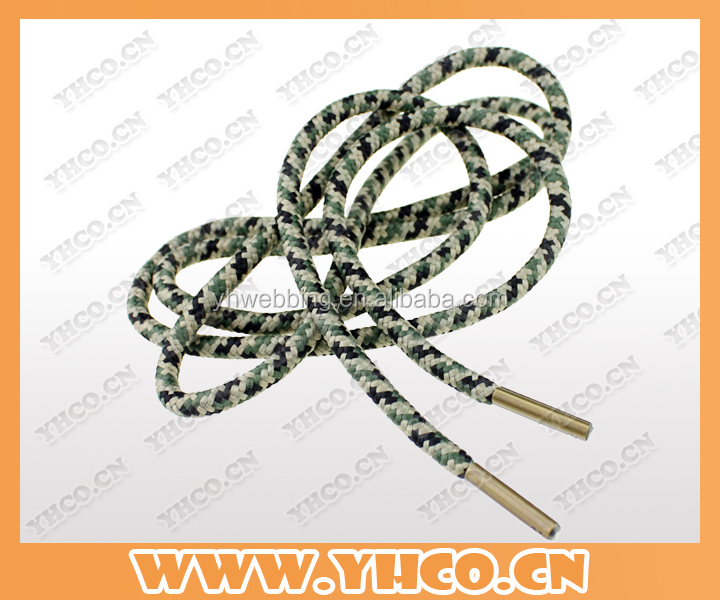 cheap shoelace with metal aglet from china factory