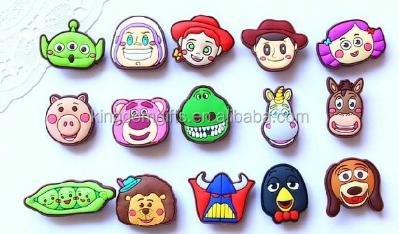 cartoon pvc shoe clip/shoe charm/ shoe accessories