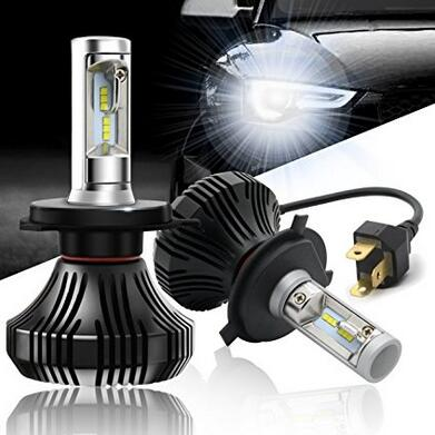 G7 Car H4(HB2/9003) Led Headlight Bulbs 20W 8000LM 4000K Cool White High/Low Beam with C REE Chips-1 Year Warranty