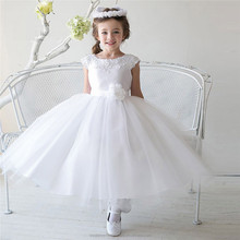 Latest Children Puffy Ball Gown Wedding bridesmide dresses Frocks Birthday Lace Long Flower Girl Dresses LF30