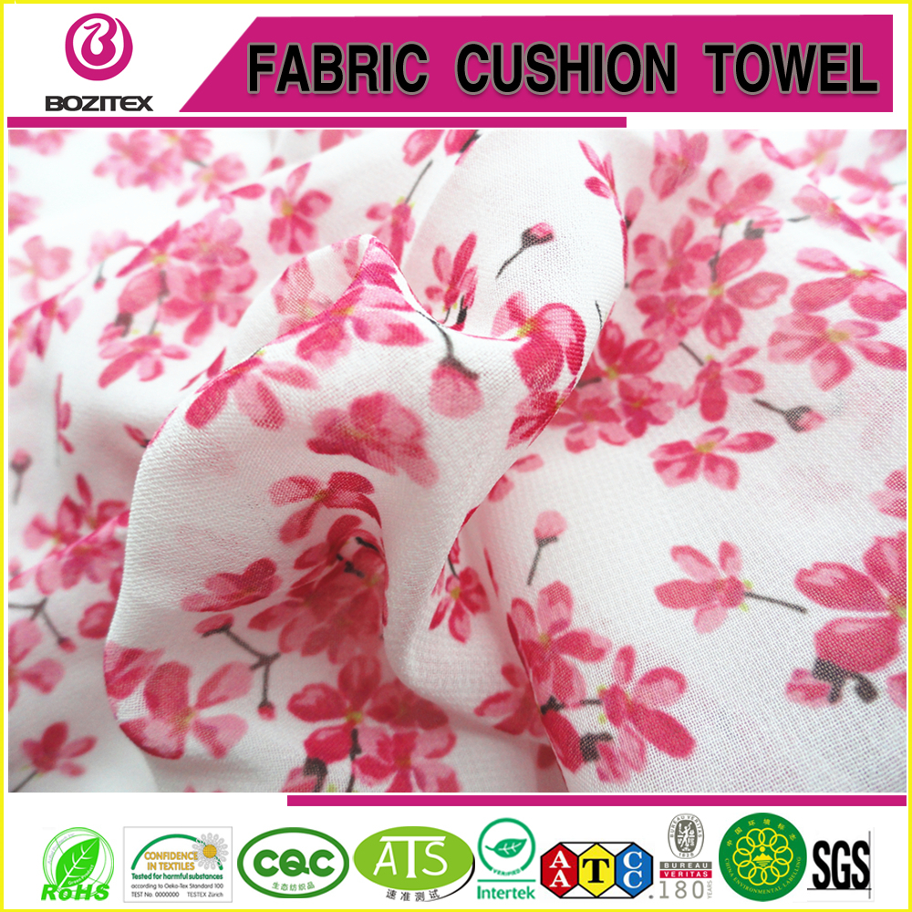 Fashionable patterns printed polyester chiffon fabric