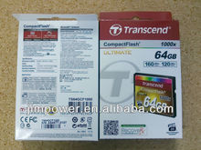 Transcend 64GB Compact Flash (CF) 1000X Flash Card