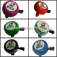 I Love My Bike Printed Clear Sound Cute Bicycle Accessories Bike Alarm Warning Ring Bell for Children/custom bicycle bell