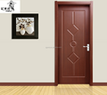 veneered wood painting doors to room