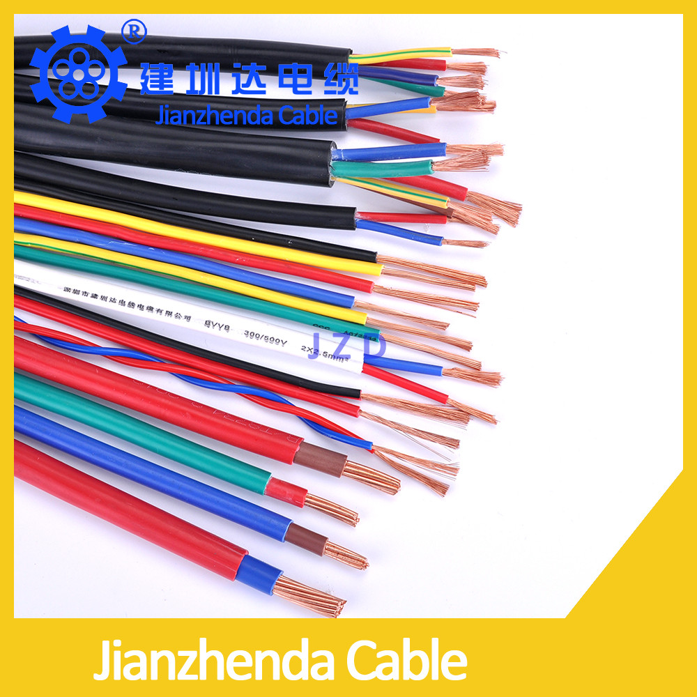 Electric cable color code 6MM2 450/750V PVC Sheathed wires