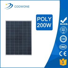 high quality 200w solar photovoltaic panels poly CE ISO certificate
