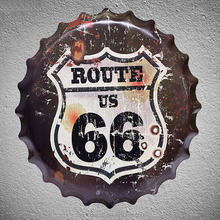 ROUTE 66 40cm 3D beer cover metal <strong>craft</strong>