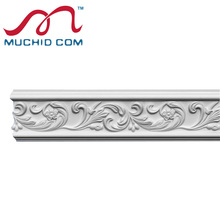 PU Carving Rails Moulding Classic Decorative carved foam cornice moulding