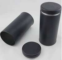 Hot-sale wholesale black round dried food tin can