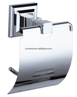 square design zinc paper holder with cover-30086 roll holder bathroom accessories chrome plate
