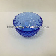blue glass bowl,colour glass bowl,decorate glass bowl