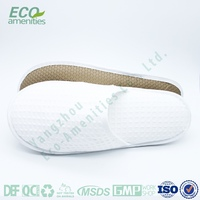 white waffle slipper leather sole is luxury hotel slipper